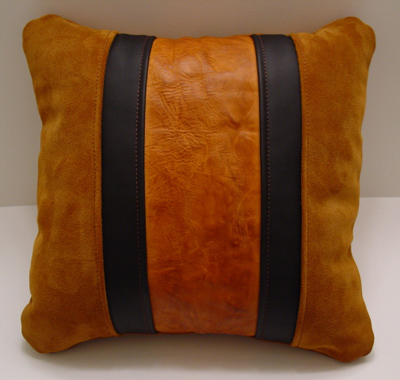 LEATHERSMITH - Xian Leather hand carved and hand crafted leather goods - Custom Items - Pillows